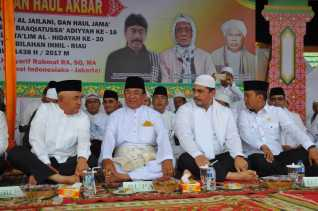 Bupati Inhil, Gubernur Riau dan Ribuan Muslim hadiri haul Akbar syekh Abdul Qadir Al Jailani