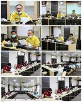 Pimpin Pertemuan, Sekda Inhil Ketuai Tim APIP Dalam Rangka Percepatan Penanganan Covid-19 .