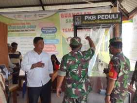 PKB Inhil Serahkan Bilik Sterilisasi di Kecamatan Mandah
