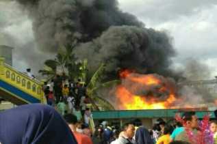 Dua Unit Rumah Ludes Terbakar di Kecamatan Kateman, Inhil