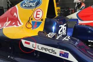 Mobil Pembalap Luis Leeds Asal Australia Tertera Bendera Indonesia