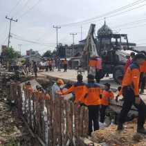 Menyusul Terjadinya Longsor, BPBD Inhil Imbau Warga Jalan Gerilya, Parit 6 Mengungsi