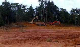 Oknum PNS Inhu Diduga Eksploitasi Ribuan Kubik Tanah Uruk Jenis Pertambangan Galian C