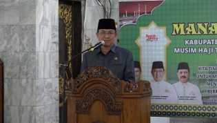 Bupati Wardan Buka Kegiatan Manasik Haji 2019, Diikuti Oleh 564 JCH Asal Inhil