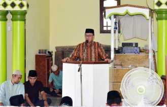 Wabup Inhil Hadiri Peringatan Maulid Nabi di Mesjid Baiturrahman Nusantara Jaya