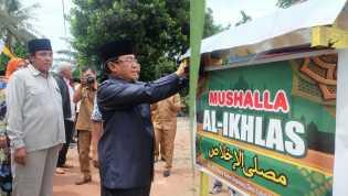 Bupati Inhil Resmikan Penggunaan Mushalla Al - Ikhlas Desa Lubuk Besar, Kemuning