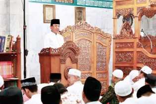 Bupati Inhil Ajak Kaum Muslimin Muhasabah Diri dan Berbuat Lebih Baik Lagi