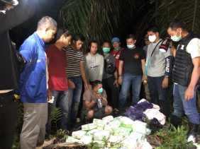 Polres Inhil Gagalkan Penyeludupan 50 Kg Sabu-Sabu