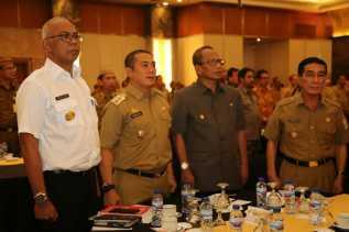 Pj Bupati Inhil Ikuti Rakornas Persiapan Penyelenggaraan Pilkada Serentak Tahun 2018