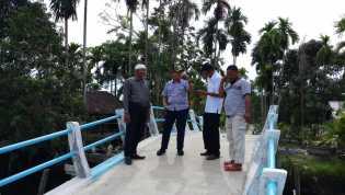 Ke Gaung, Ketua DPRD Inhil Tinjau Pembangunan dan Serap Aspirasi Masyarakat