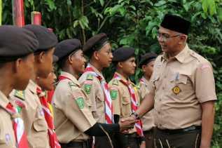 Pj Bupati Rudiyanto Buka Kegiatan Perjusami Kwaran Kemuning Gerakan Pramuka Inhil