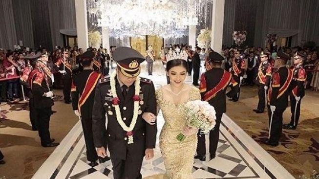 Ini Foto Pernikahan Mewah Kapolsek saat Corona