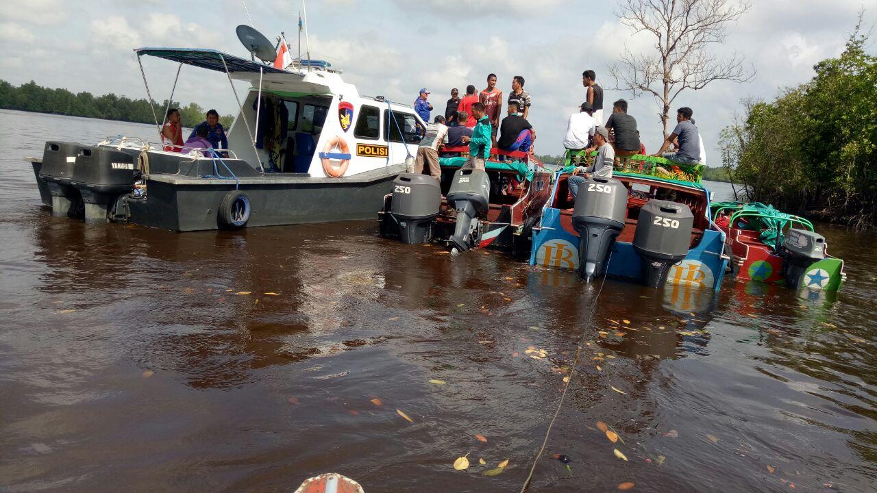 Tabrakan Speedboat di Inhil, Satu Korban Masih Hilang