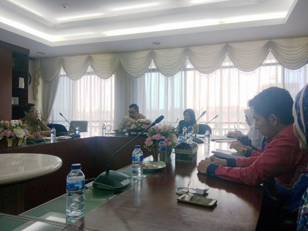 Wagubri Adakan Pertemuan Dengan Komisi Perlindungan HIV AIDS Riau