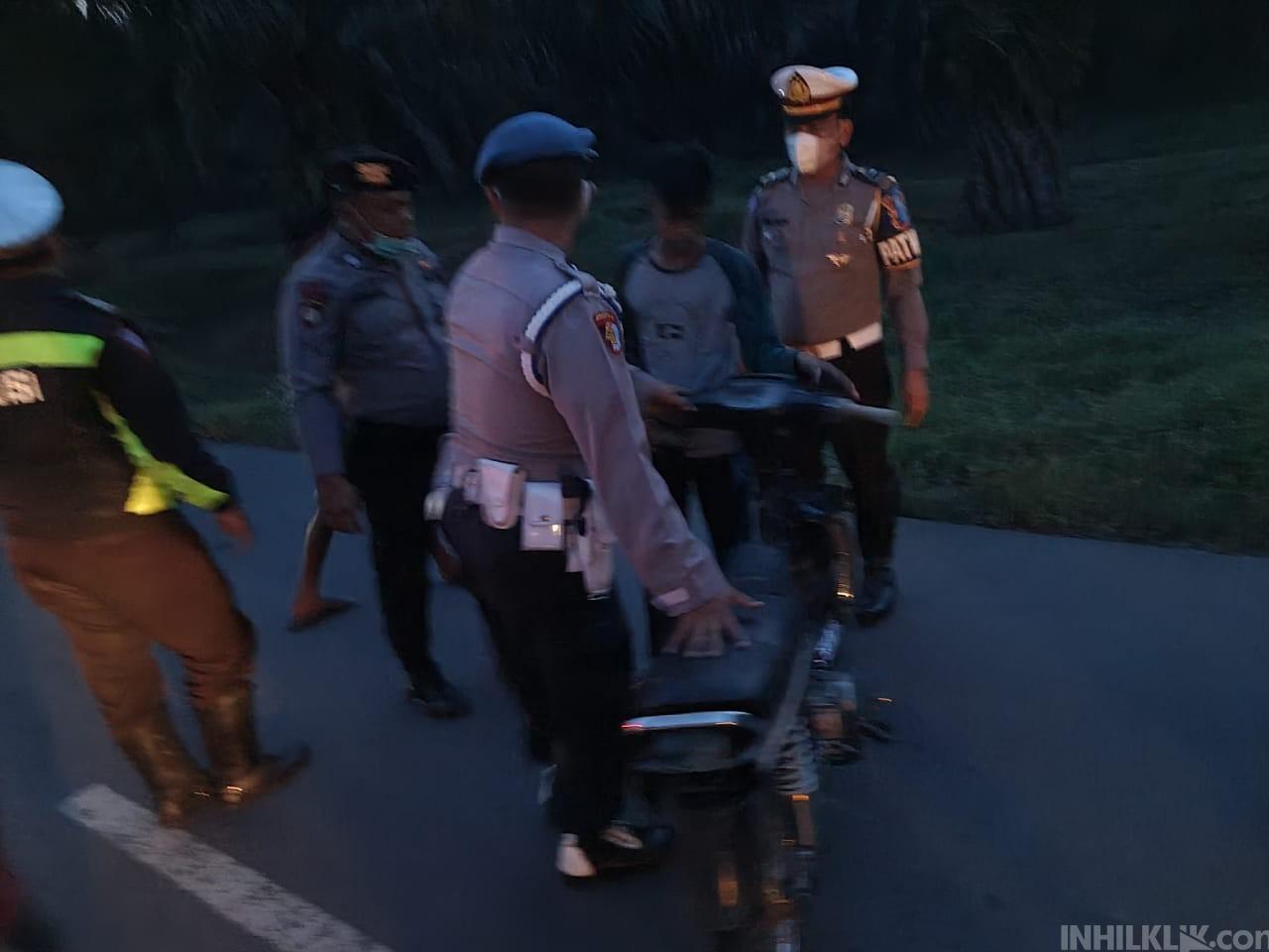 Patroli Asmara Subuh di Jalan Matapao- Sei Rampah, Sepeda Motor Tanpa Dokumen Diamankan Polisi
