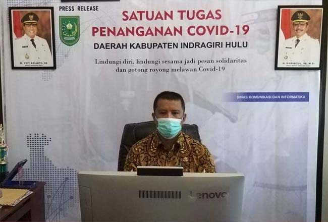 Total Terkonfirmasi Covid-19 di Inhu Jadi 524 Kasus