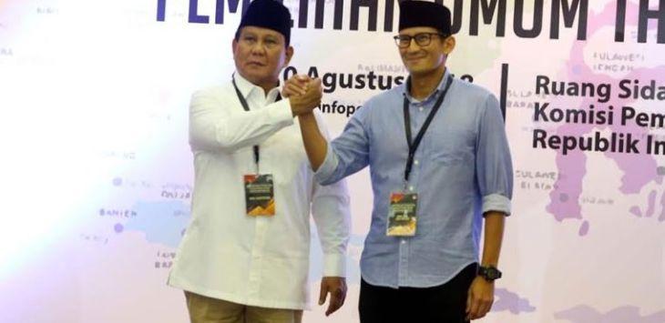 Survei Pilpres 2019 Prabowo-Sandiaga Menang Telak, Eh…Ternyata Hoax