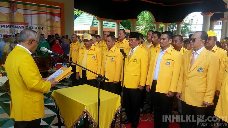 Pelantikan Kepengurusan DPD II Partai Golkar Disaksikan Langsung Masyarakat Inhil