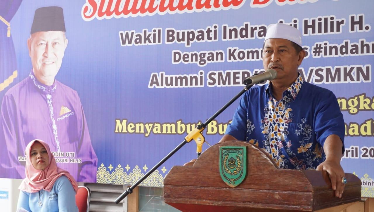 Wabup Bersilaturahmi dengan Alumni SMKN 1 Tembilahan