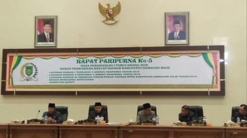 Rapat Paripurna ke-5, Pansus DPRD Inhil Sampaikan Hasil Pembahasan 8 Ranperda