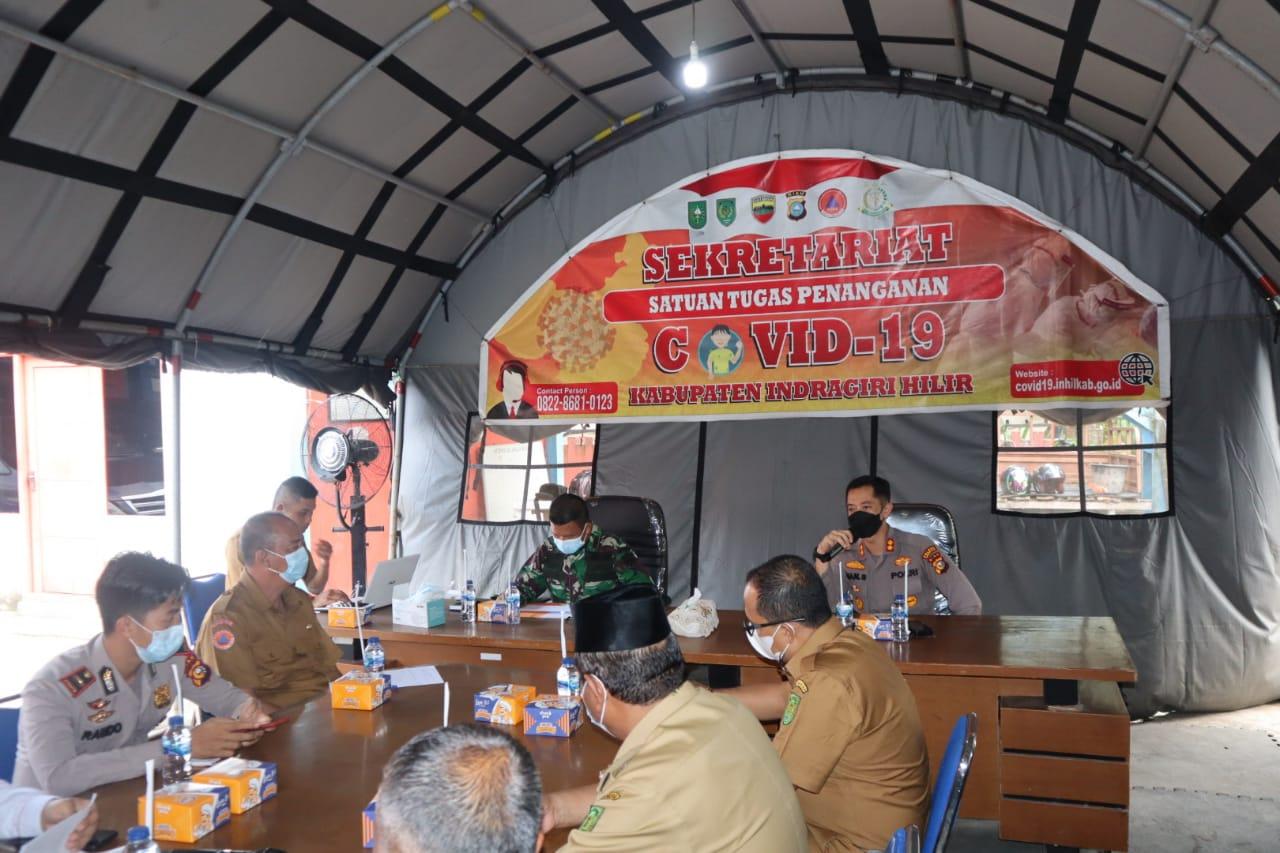 Tim Satgas Kembali Rapat Bahas Penanganan Covid-19 di Inhil