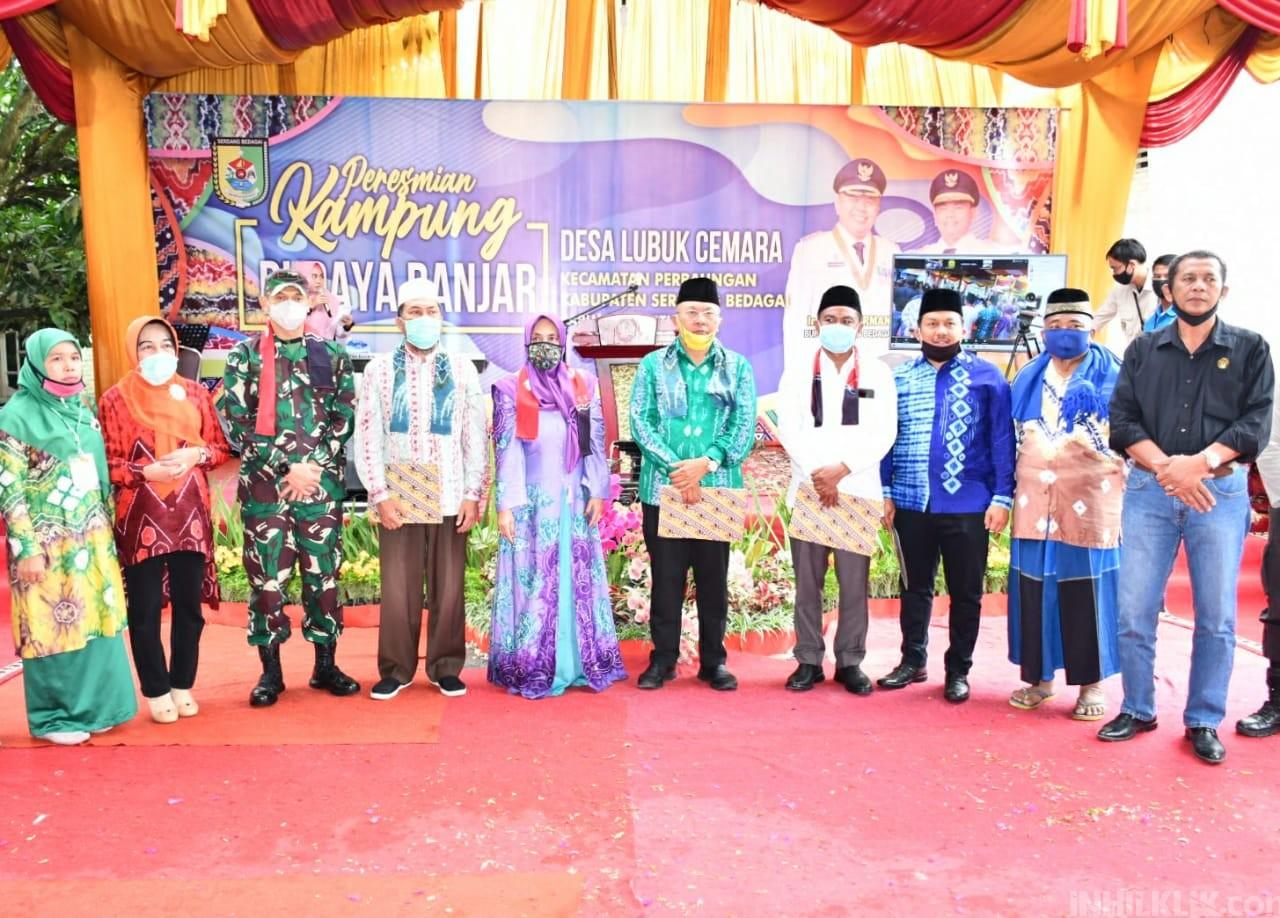 Kampung Budaya Banjar di Sergai Diresmikannya