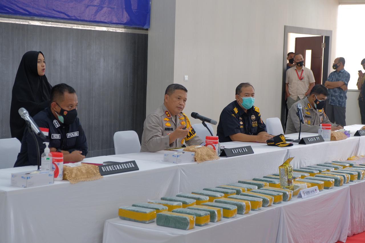 Hari Kesepuluh Operasi Antik, Polda Riau Sita 40 KG Sabu Dan 50.000 Butir Ekstasi