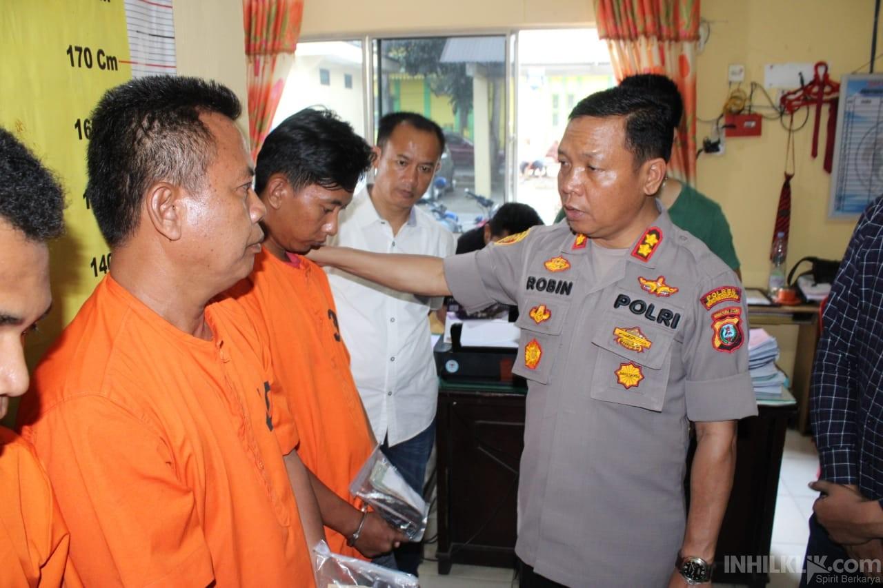 Satu Malam, Polres Sergai Tangkap 4 Bandar Sabu, Salahsatu Diantaranya Ditembak
