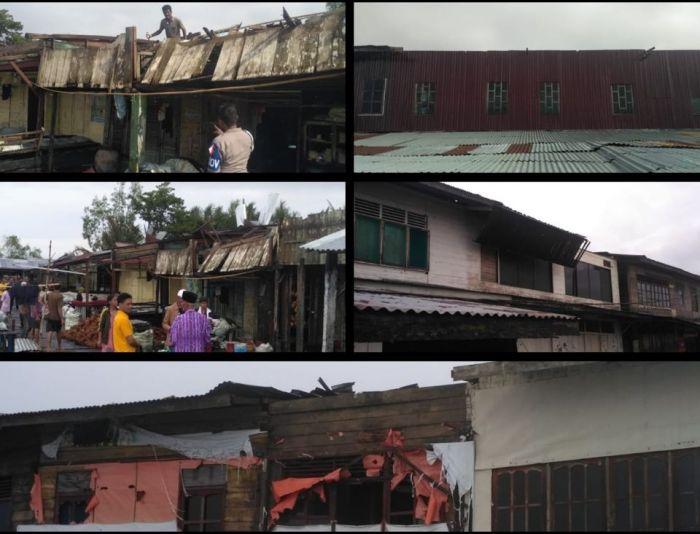Angin Ribut Rusak Sembilan Bangunan di Inhil