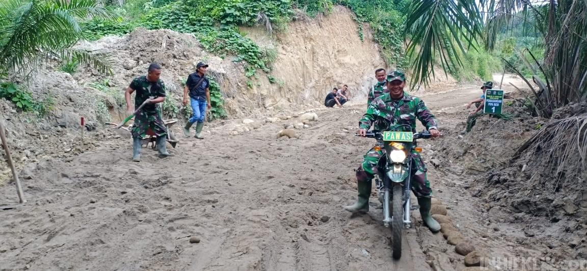 Naik Trail, Pawas Kodim 0204/DS Patroli Wasgiat Lokasi TMMD