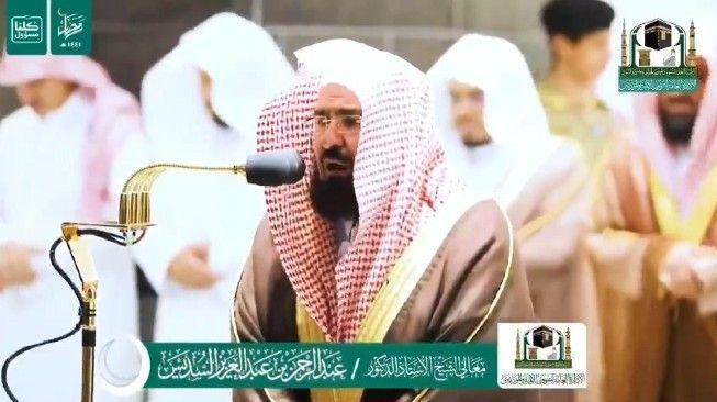 Viral Syekh As-Sudais Menangis Tersedu Imami Tarawih di Depan Ka'bah