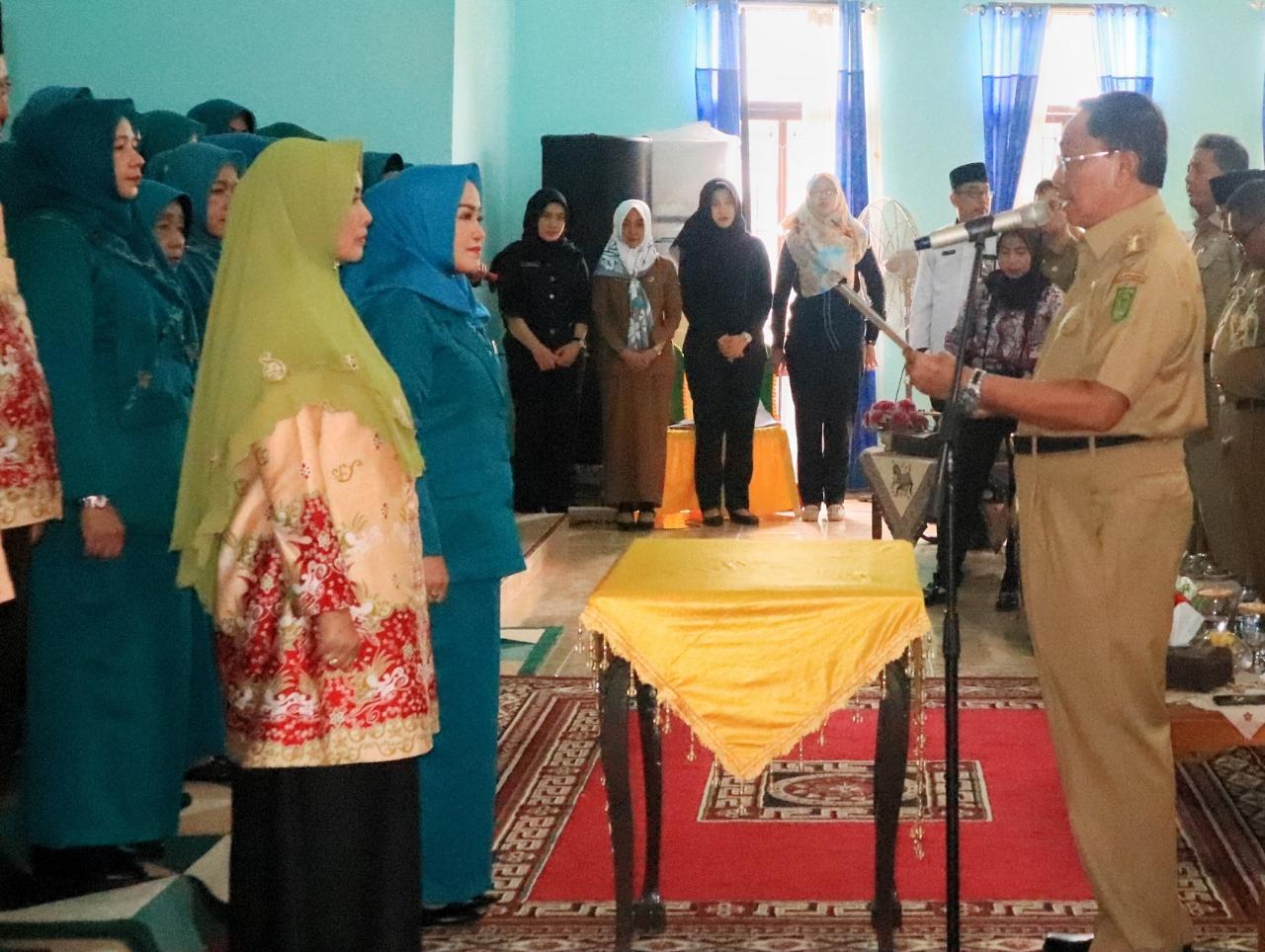 Bupati Inhil Lantik Pengurus TP-PKK Inhil dan Kukuhkan Pengurus K3S Inhil Periode 2018-2023