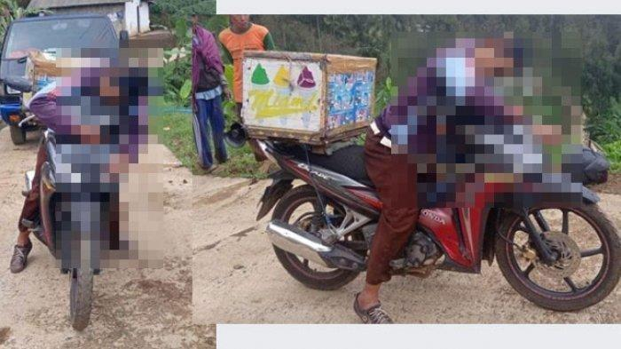 KASIHAN, Penjual Es Keliling Meninggal di Atas Motornya, Begini Kondisinya saat Ditemukan