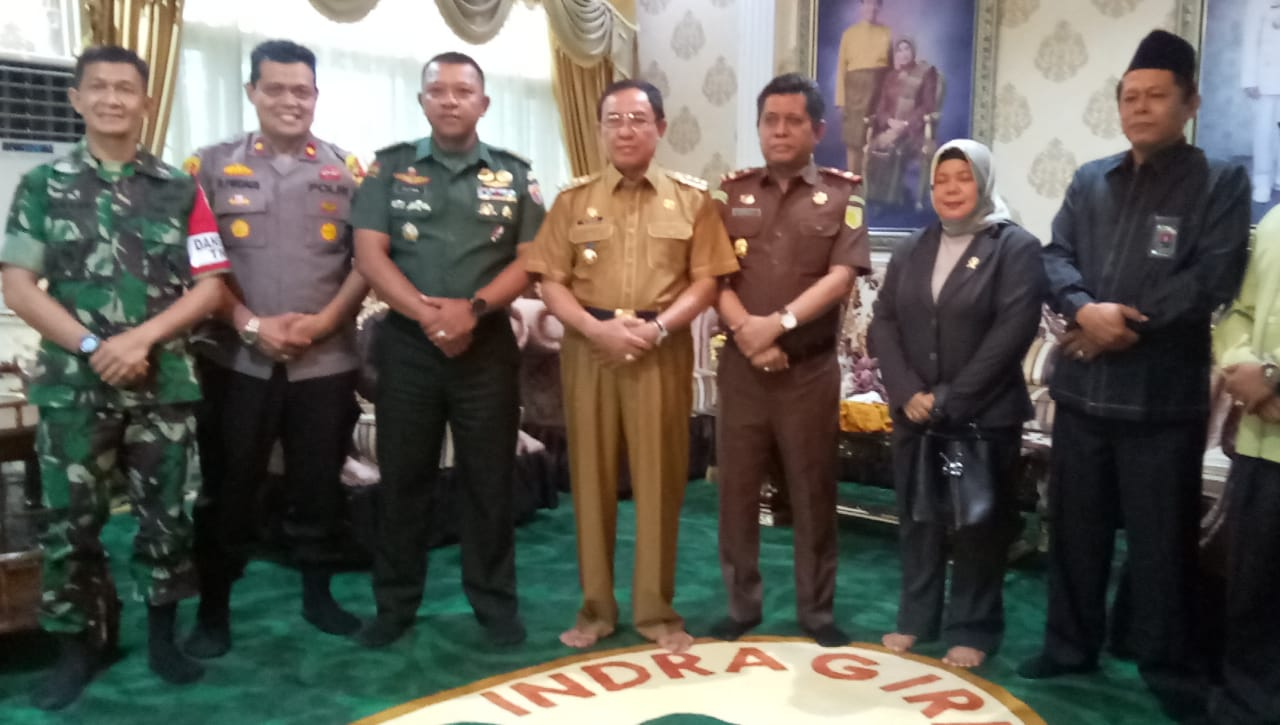 Wasev TMMD Mabes TNI Sambangi Kediaman Bupati Inhil