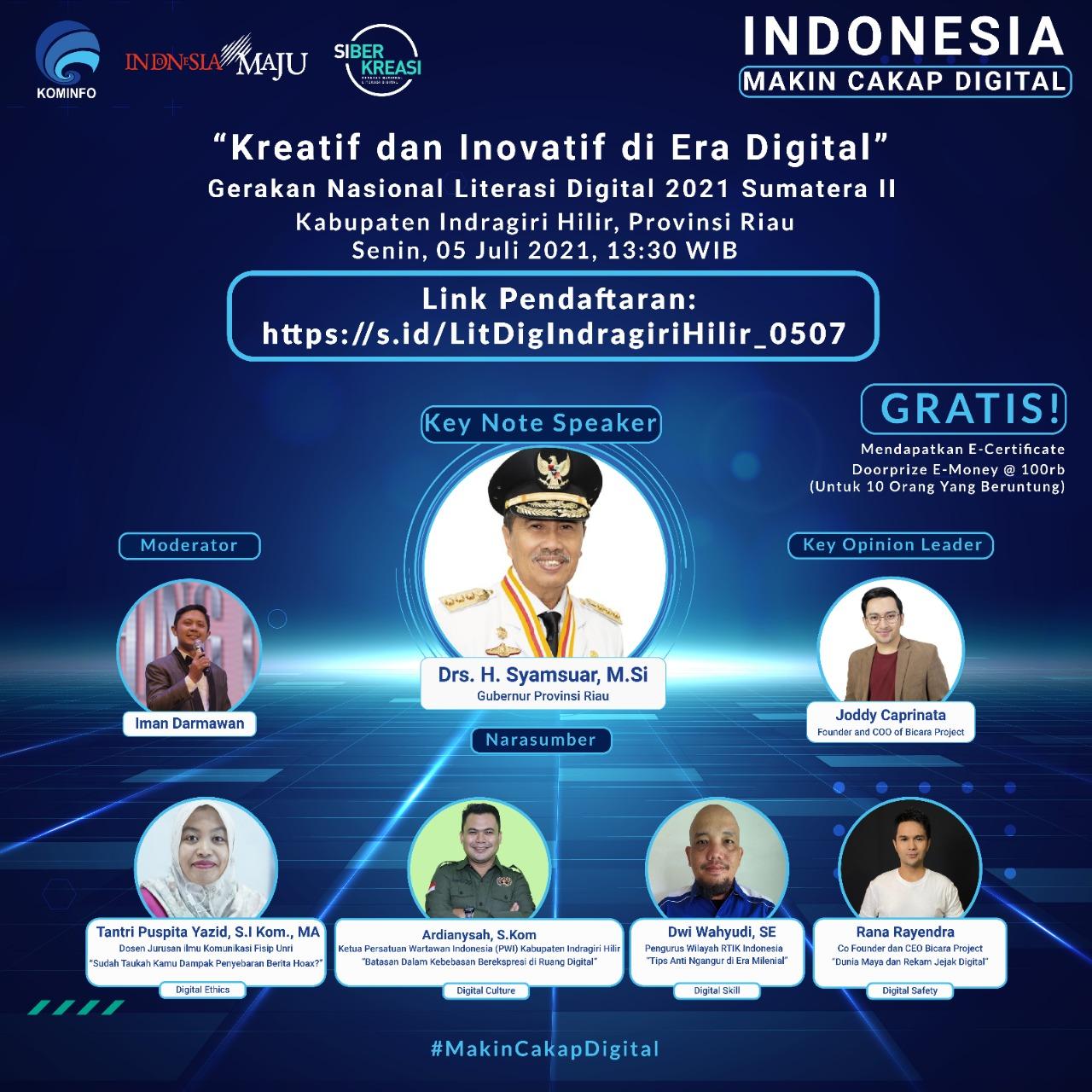 Literasi Digital di Kabupaten Indragiri Hilir, Provinsi Riau