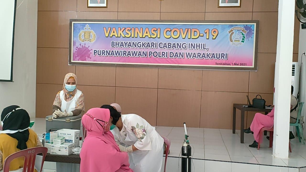 AKBP Dian Setyawan:  100 Persen Personel Polri, ASN dan PHL Polres Inhil Telah Divaksinasi Covid-19
