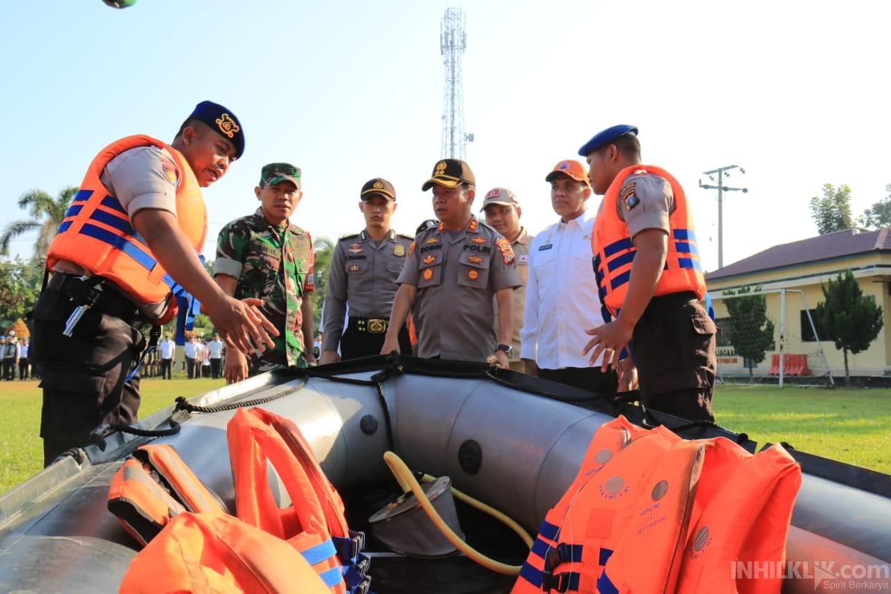 AKBP R. Simatupang Pimpin Apel Siaga Bencana Alam Tahun 2020 di Sergai