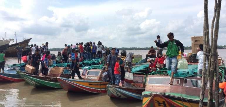 H-2 Lebaran, Pelabuhan Kuala Enok Tembilahan Masih Sepi
