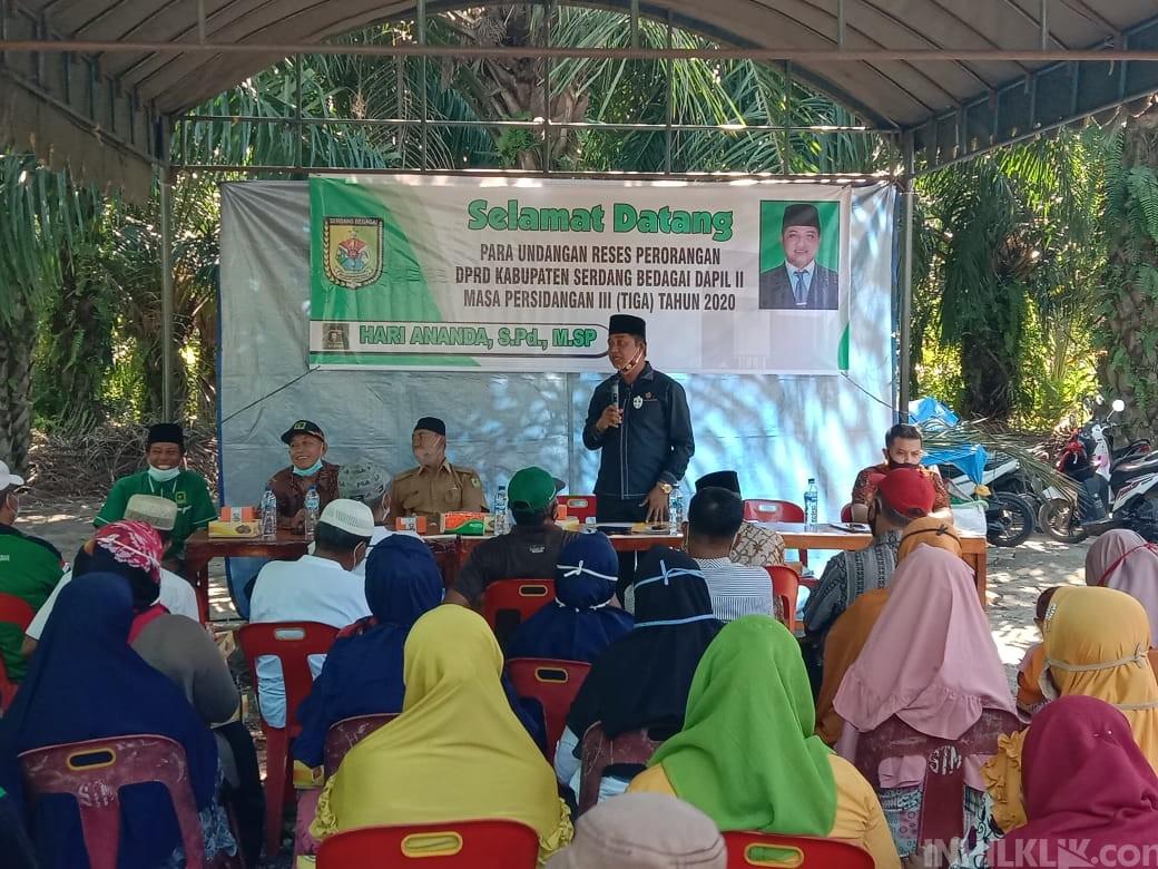 Anggota DPRD Sergai Hari Ananda Adakan Reses Masa Persidangan III