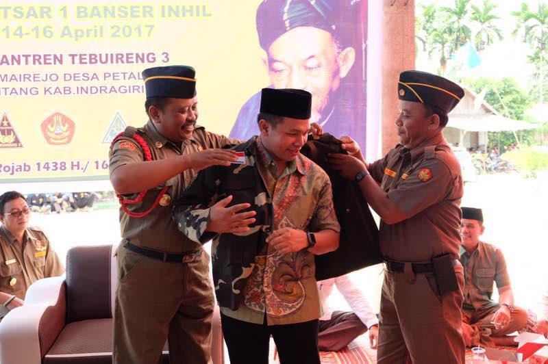 Abdul Wahid Dinobatkan Sebagai Warga Kehormatan Banser GP Ansor Inhil