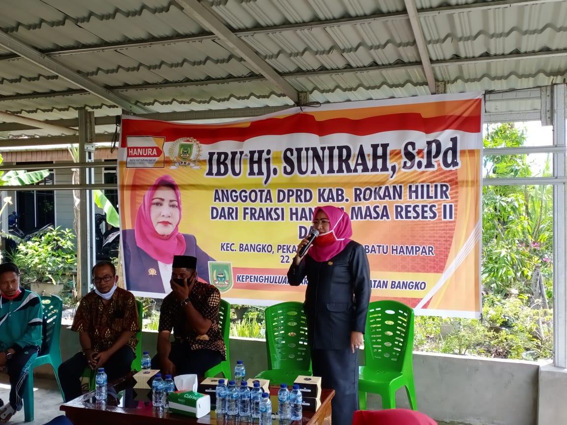Anggota DPRD Rohil Hj. Sunirah Gelar Reses di Tiga Titik