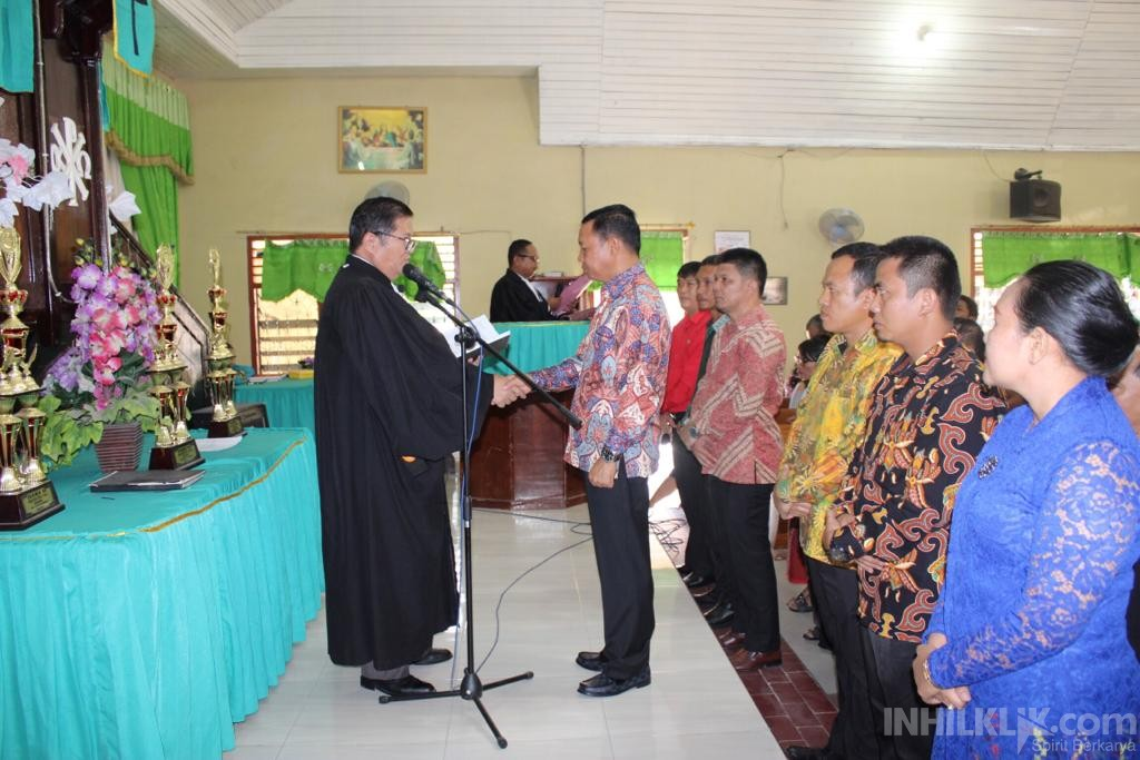 Kapolres AKBP R. Simatupang Dilantik Sebagai Ketua Umum Panitia Pembangunan Gereja HKBP Resort Sei Rampah