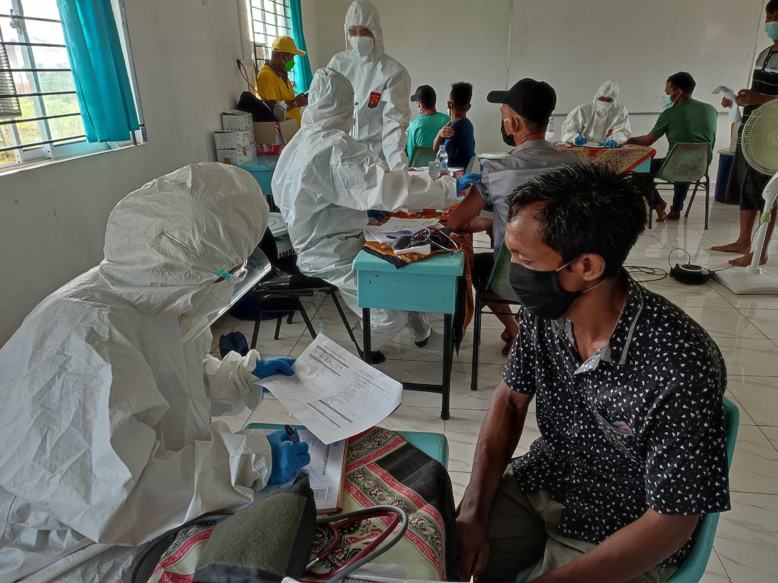 PT GIN Inhil Gelar Vaksinasi Gotong Royong Tahap II Sebanyak 3400 Dosis