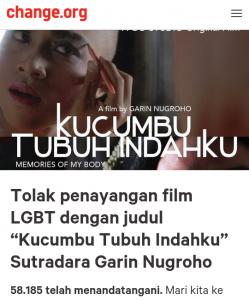 58 Ribu Orang Telah Tanda Tangani Petisi Tolak Penayangan Film