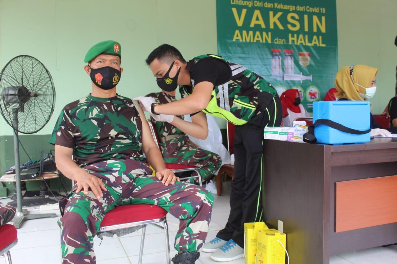 Vaksin Covid-19 Tahap 2 di Makodim Inhil Diikuti 121 Orang