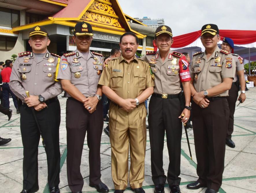 Sekda Inhil Ikuti Apel HUT Satpam Ke-33 Tingkat Provinsi Riau