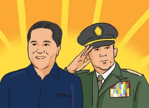 Pertarungan Timses Presiden, Erick Tohir vs Djoko Santoso, Pertarungan Si Kaya Lawan Si Miskin