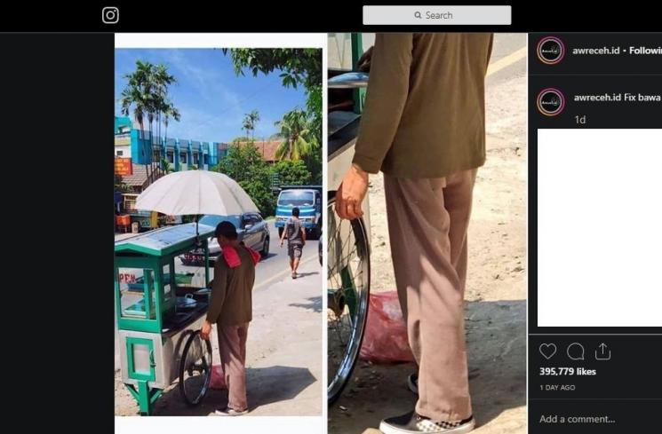 Penjual Keliling Ini Netizen Curiga Sebagai Anggota Intel, Alasannya Karena Sepatu