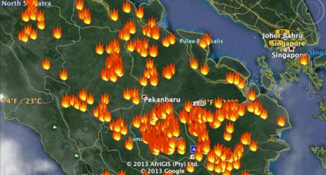 Hotspot dan Gambaran Cuaca di Riau Hari ini