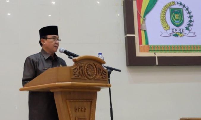 Bupati Inhil Hadiri Paripurna ke-4 masa persidangan II Tahun 2018